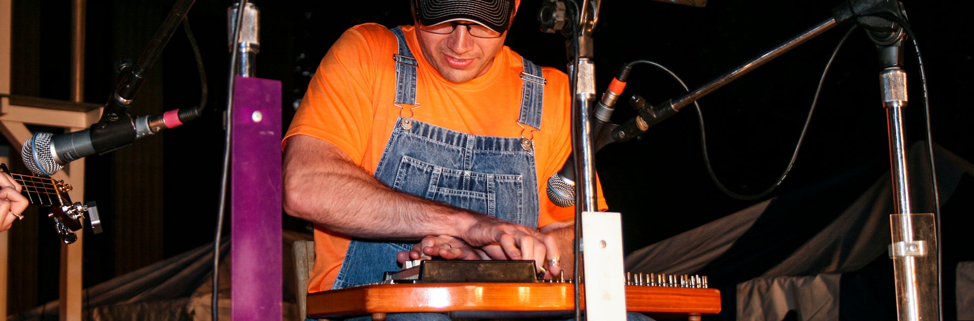 Man playing dulcimer